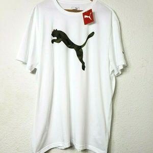 NWT Puma Mens Cat Shirt Size XXL White Camouflage